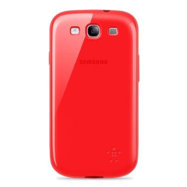 Capa p/ Samsung Galaxy S3 Belkin Grip Sheer Tpu Flexivel Vermelho F8M398TTC01