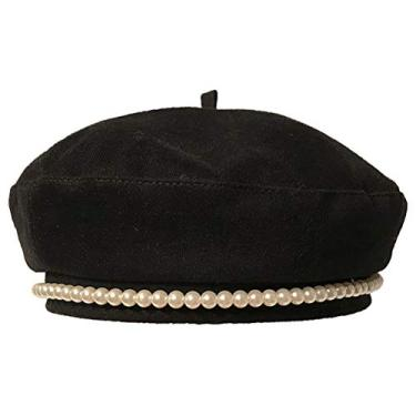 VALICLUD Chapéu feminino de combinando elegante boina de pérola. chapéu
