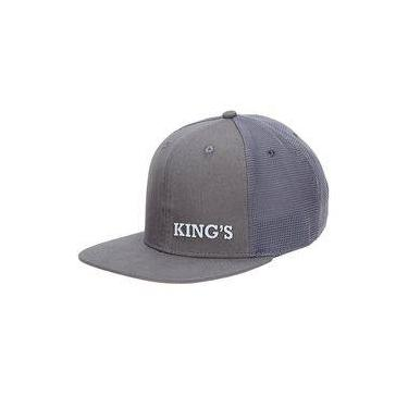 Boné King Farm Aba Reta Cinza 22134 bc643589e74