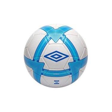 afe2d82594 Bola De Futebol Umbro Campo Stealth Branco Com Azul 5