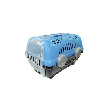 Caixa De Transporte Para Cachorro - Furacão Pet - Luxo - Tamanho 2 - Azul Com Cinza
