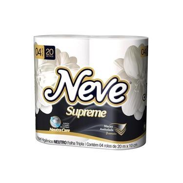 Papel Higiênico Neve 20 M 4 Unidades Folha Tripla Supreme.
