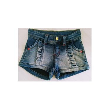 Short Infantil Menina Jeans Sport 6208