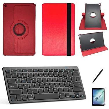 """Kit Capa/Teclado/Can/Pel Galaxy Tab A T290/T295 8"""" Verm"""