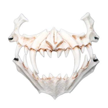 Imagem de Misright Máscara de resina, Dia das Bruxas, resina, tema de animal, fantasia de Halloween, cosplay