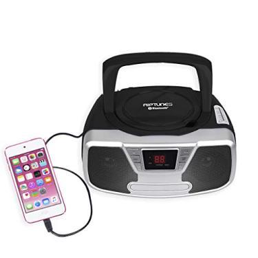 RipTunes programável CD Boombox- Boombox Portátil, Rádio AM / FM, com Bluetooth Preto CDB232BT