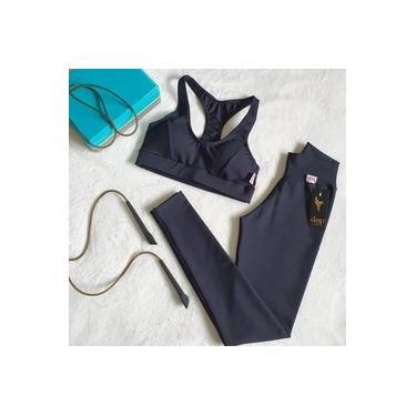 Imagem de Conjunto Calça Legging + Top Roupas De Academia Fitness