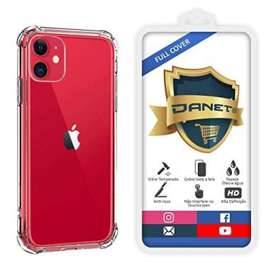 Kit Capa E Película Para iPhone 11 Tela De 6.1Polegadas Capinha Case Transparente Air Anti Impacto e Película De Vidro Temperado 3d - Danet