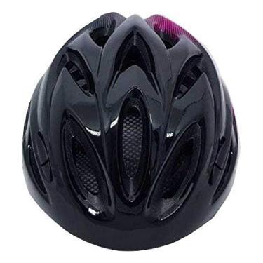 Capacete Ciclismo Tsw Raptor 2019 Com Sinalizador Led Preto/cinza/rosa