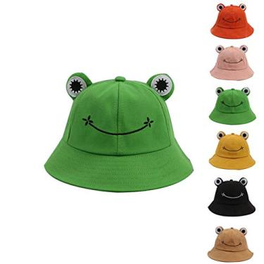 Yagor Chapéu de sapo dobrável de verão, chapéu de sapo para mulheres, chapéu de sapo adulto, Verde, 53-55cm