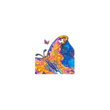 Imagem de Quebra Cabeças 3D De Madeira Borboleta Com 112 Peças Puzzle Multi Colorido