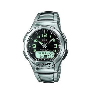 3074529ebe4 Relógio Masculino Analógico Casio AQ-180WD-1BV - Metal