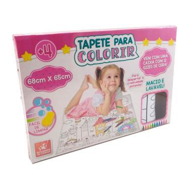 Imagem de Tapete para Colorir Princesas - Brincadeira de Criança