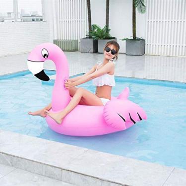 Boia Flamingo Gigante Inflavel Piscina 1.50 metros Praia Flutuante Festa Lazer