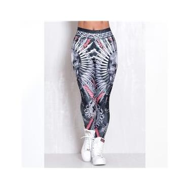 Legging Elastic Black Guardian Branco e Preto