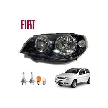 Farol Fiat Palio Economy 2008 Máscara Negra Lado Esquerdo