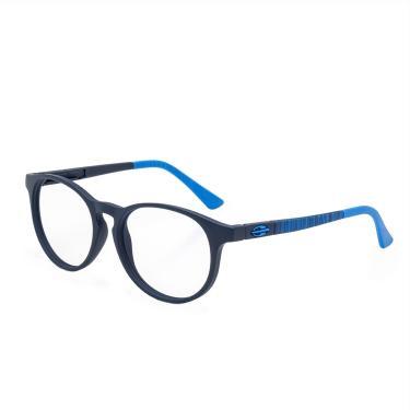 4e7d2e09d0abd Óculos de Grau Mormaii Ollie Infantil M6064K8350 - Acetato Azul Escuro Fosco