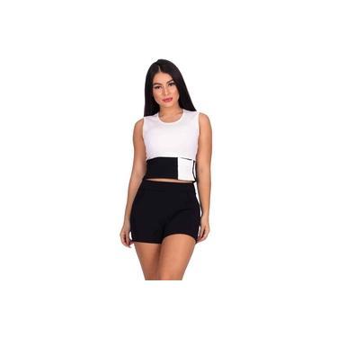 Conjunto Miss Misses Moletinho com Bolsos Off-White