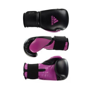 Luva De Boxe Muay Thai Adidas Power Colors Preto/Rosa 10 Oz