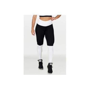 Imagem de Calça Legging Feminina Poliéster Duas Cores Branco