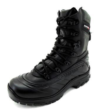Bota Coturno Couro Militar Tático Macio Conforto Dia a Dia Preto  masculino