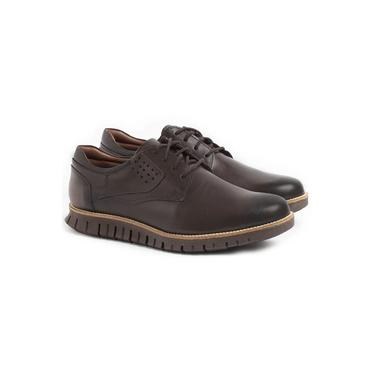 Sapato Casual Masculino Oregon em Couro Chocolate / Café Seratto - 5507