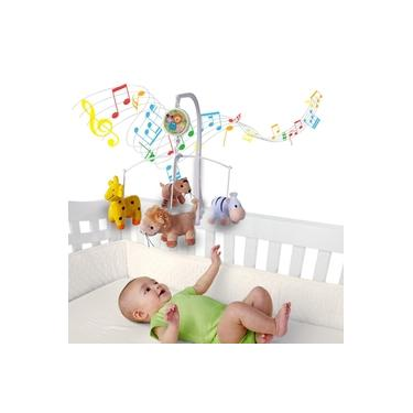 Imagem de Móbile em Pelúcia Giratório Musical De Bebê Safari