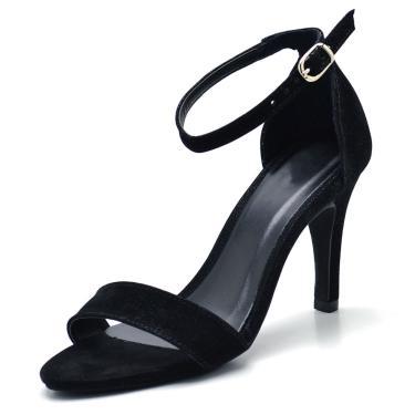 Sandália Salto Fino Gisela Costa Preto  feminino