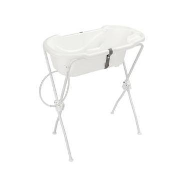 Banheira para Bebê Ergonômica New Com Suporte - Tutti Baby - Branco