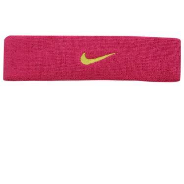 Testeira Nike Swoosh Headband - Rosa Escuro