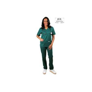 Scrub Pijama Cirúrgico 100% Algodão Verde Blanco Raro