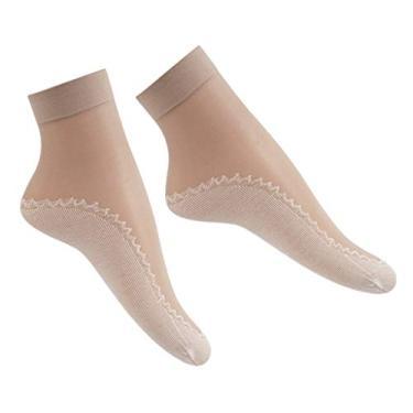 kowaku 10 pares de meias femininas - marrom claro
