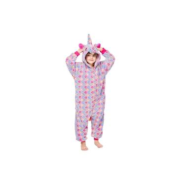 Pijama Infantil Unicórnio Lilás com estrelas