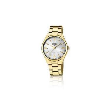 8165b2ba718 Relógio Everlast Masculino Caixa e Pulseira Aço Dourado E639