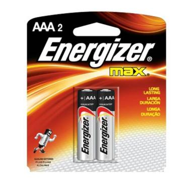 Pilha Alcalina Energizer Max AAA Palito - 2 Unidades 40192