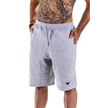 Bermuda Short Masculino Moletom Academia Esporte Corrida Tamanho:44;Cor:Cinza