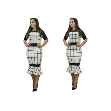 Vestido Midi Longuete Moda Evangélica Promoção