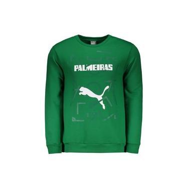 Moletom Puma Palmeiras Graphic Sweat Masculino - Verde