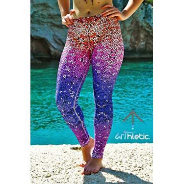 SWGG Calças femininas slim hip sereia laranja roxo respirável suor nove yoga-0041 Yoga-0041 XXL