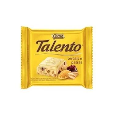 Chocolate Talento Cereais e Passas Garoto 25g