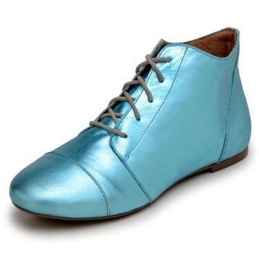 Bota Feminina Casual Confort Cano Curto Ankle Boot Cavalaria metalizada  feminino