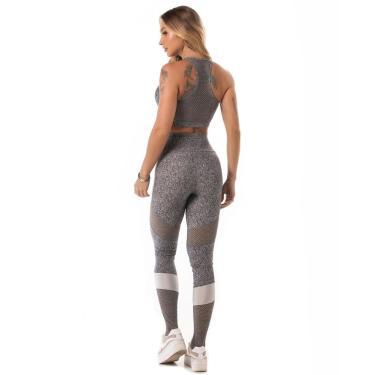 Legging Let'sgym Melange Sport Azul - P