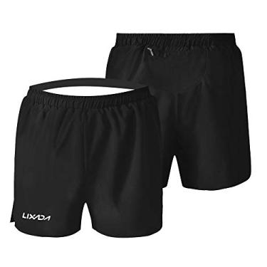 Shorts de corrida masculino Funien-com secagem rápida para academia, esportes, praia, com forro integrado