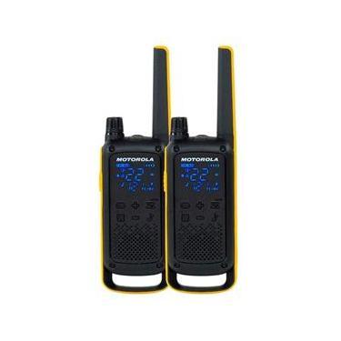 Rádio Comunicador Motorola Talkabout T470BR, 22 canais, 35KM, Lanterna, IPX4, Preto/Amarelo