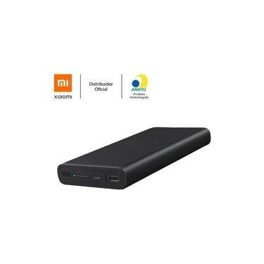 Power Bank Xiaomi 10000mAh Essential sem Fio Powerbank Sem Fio Xiaomi 10000mAh Preto Bateria sem fio Xiaomi Carregador Portátil Xiaomi XM498PRE