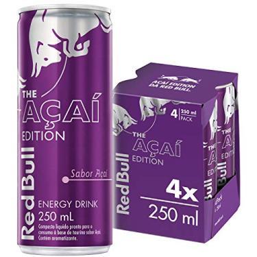 Energético Açaí Red Bull Energy Drink Pack com 4 Latas de 250ml