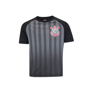 Camiseta do Corithians Black Stripes - Infantil - PRETO Xps Sports 6abc64d650ce5