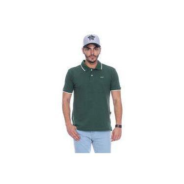 Camiseta Polo Masculina Basic Verde Pbr d1e418d28da