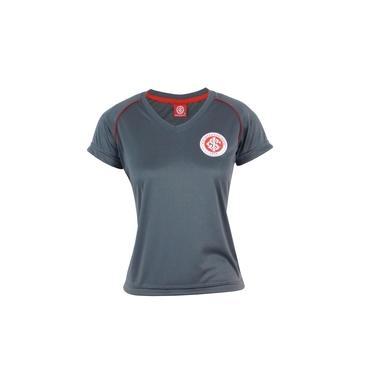 Camisa Feminina Baby Look do Internacional Dry Cinza