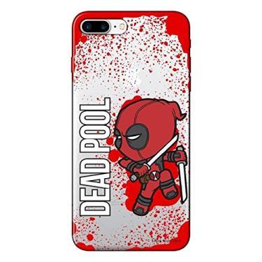 Capa Transparente Personalizada Para iPhone 7 Plus e iPhone 7 Pro Deadpool - TP139